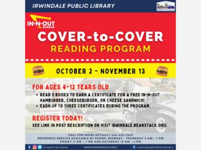 Irwindale 𝐂𝐎𝐕𝐄𝐑-𝐭𝐨-𝐂𝐎𝐕𝐄𝐑 𝐑eading Program!